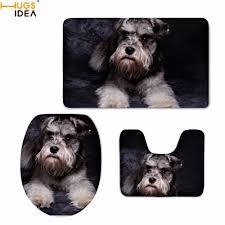 siege de style hugsidea mignon 3d chien schnauzer impression siège de toilette