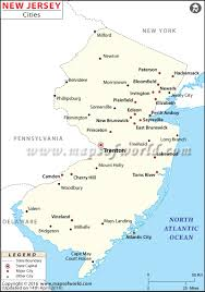 Virginia Map With Cities Cities In New Jersey Map Of New Jersey Cities