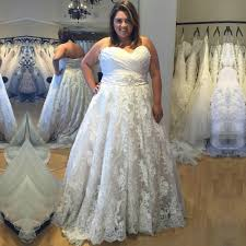 plus size gown wedding dresses selling plus size lace wedding dress waist with rhinestone
