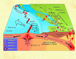 physical map of oregon juan de fuca plate fear of juan de fuca megathrust earthquake
