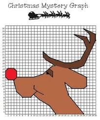 christmas reindeer coordinate graphing kid crafts pinterest