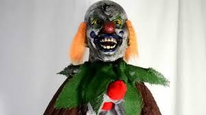 sinister hanging clown prop halloween decoration