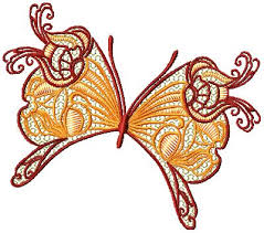 ornamental butterflies embroidery designs