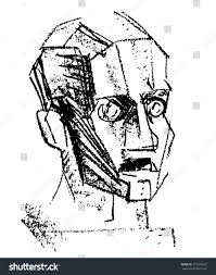 rough sketch head stock vector 272624693 shutterstock