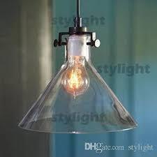 discount modern meridian transparent glass chandelier edison light