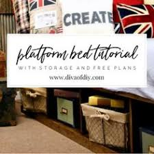 Plans To Build A Platform Bed With Storage by Platform Bed With Storage Tutorial Platform Beds Bed Plans And