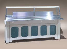 serving line steam tables sandwitch serving counters cafeteria lines and buffet lines have