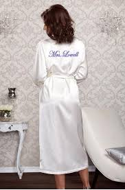 honeymoon shower gift ideas personalized satin bridal robe for the wedding day