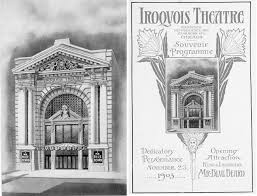 Chicago Theater Map by Iroquois Theater