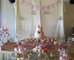 shabby chic vintage glam baby shower party ideas photo 7 of 17