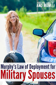 Military Wives Meme - murphy s law of deployment for civilians vs military spouses