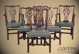 Chippendale Dining Room Set Set Of Six Mahogany Chippendale Style Dining Room Chairs Beacon