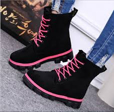 s flat boots sale uk winter warm fur lined flat lace up ankle boots