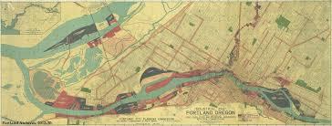 Map Of Portland Oregon Area by Portland Industrial Map 1945 Vintage Portland
