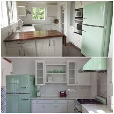 Mint Green Kitchen Accessories by Sparkling White Kitchens With Big Chill Appliances