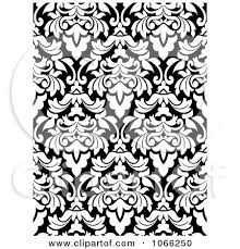 pattern clip art images clipart black and white floral damask pattern royalty free vector