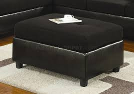 microfiber u0026 faux leather contemporary sectional sofa 500735 black