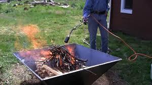 backyard biochar top lit open burn