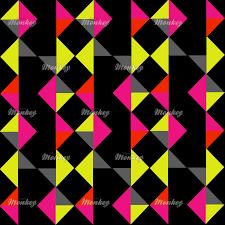 mid century modern geometric diamond bold bright patterned print