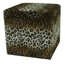 Funky Ottoman Leopard Cube Ottoman Elements Sofas Custom Sofas Rock
