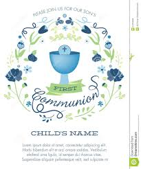 Invitation Card For Holy Communion Blue And Green Boys First Holy Communion Invitation With Chalice