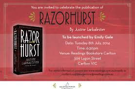 Launch Invitation Card Sample Razorhurst Book Launches In Sydney And Melbourne Justine