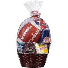 football gift baskets touchdown easter basket with football and assorted candies