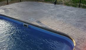 Paver Design Software by Pool Patio Materials Stamped Concrete Vs Pavers Loversiq