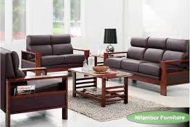 CANYON TEAK WOOD SOFA SET Nilambur Furniture - Teak wood sofa set designs