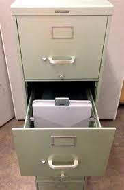 Vintage Metal File Cabinet Steelcase Vertical Letter Size Five Drawer Metal File Cabinet