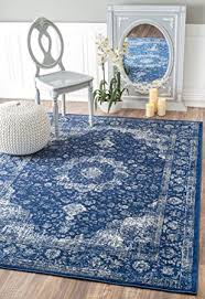 Area Rugs 4 X 6 Traditional Vintage Fancy Blue Area Rugs
