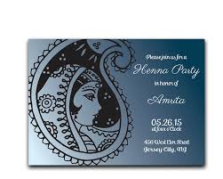 henna invitation henna mehndi party makedes