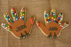 turkey cookies for thanksgiving handprint turkey cookies