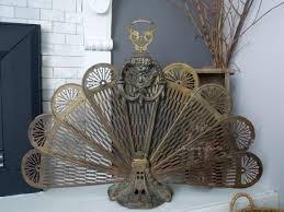home decor creative antique fireplace screen home design image