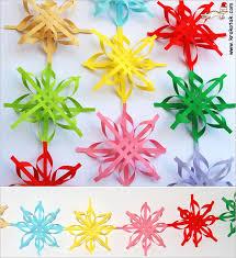 krokotak colorful snowflakes
