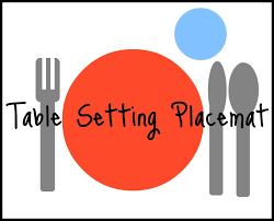 table setting placemat the frances project montessori activities and a placemat printable