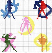 235 best perles points de croix sailor moon images on pinterest