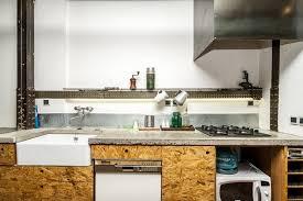 cuisine osb cuisine avec façade en osb appartement lofts