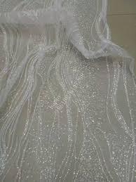 glitter tulle stock white glued glitter tulle mesh lace fabric for uk