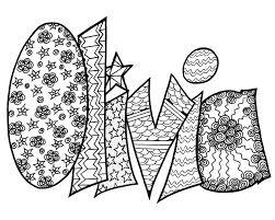 olivia free printable name coloring page u2014 stevie swift