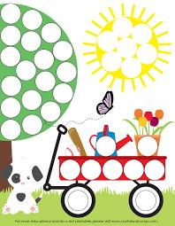 preschool do a dot printables spring