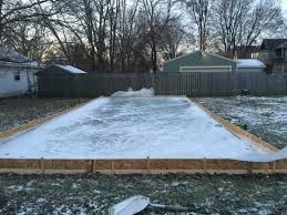 Backyard Rink Ideas Diy Backyard Rink Make