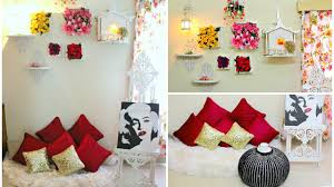 Spring Home Decorations Diy Floral Wall Decor I Spring Home Decor Youtube
