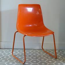 chaise plastique enfant chaise pour enfant en plastique moulé orange grosfillex