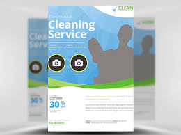 cleaning service flyer template flyerheroes