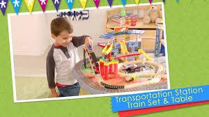 transportation station train set u0026 table by kidkraft on vimeo