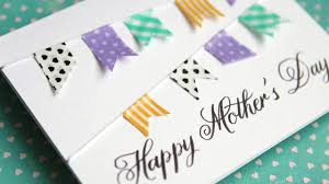 Mother S Day Designs Simple Diy Mother U0027s Day Card No Stamping Youtube