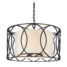 Drum Light Pendant Troy Sausalito Bronze Five Light Pendant On Sale