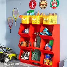 Plans For Wooden Toy Garage by Installing Large Garage Cabinets Family Handyman
