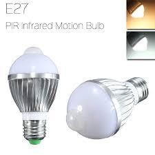e27 5w auto pir infrared motion sensor detection led bulb lamp 85